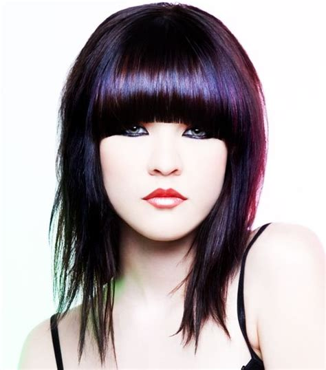 medium haircuts with bangs and chunky color emo hairstyles haircuts hairstyles 2017 and hair colors