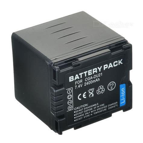 Battery Panasonic Cga Du21 Oem panasonic cga du21 compatible 7 4v 2400mah battery pack for panasonic dz mv350a more free