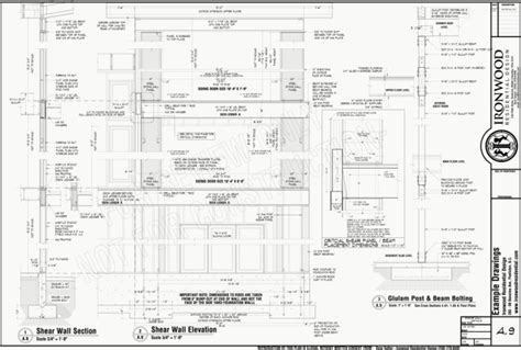 Cost To Engineer House Plans by Ironwood Residential 187 Construction Plans Example Set