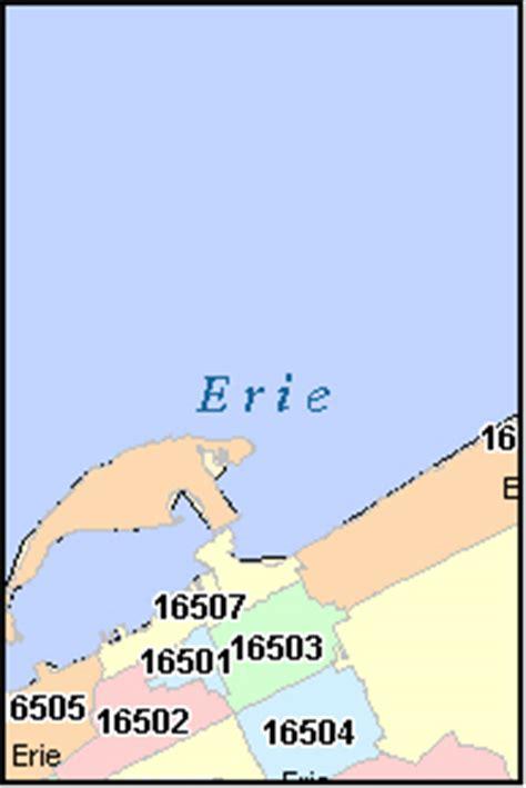 zip code map erie county pa erie county pennsylvania digital zip code map