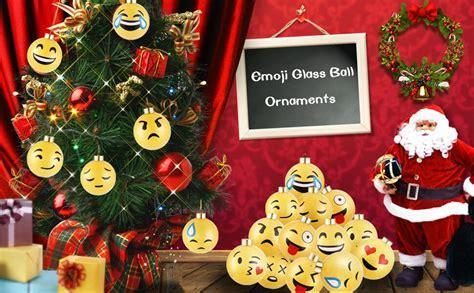 Amazon.com: DECORA 12 Pieces Glass Emoji Christmas Balls