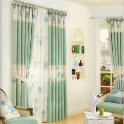Light Green Curtains Floral Pattern Light Green Bedroom Curtains 2016 New Arrival
