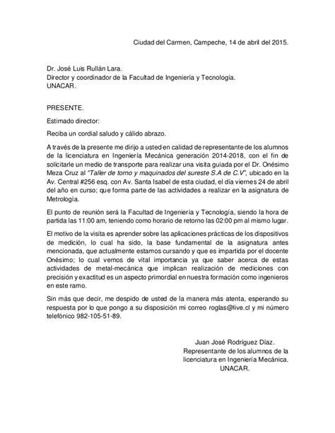 carta formal at redacci 243 n de una carta formal