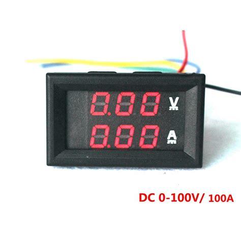 Dc Voltmeter led digital dc voltmeter ammeter dc 0 100v 100a voltmeter
