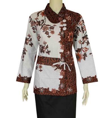 desain baju batik atasan lengan panjang 15 model baju batik lengan panjang wanita modern 2018