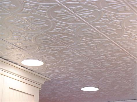 install a tin tile ceiling tos diy