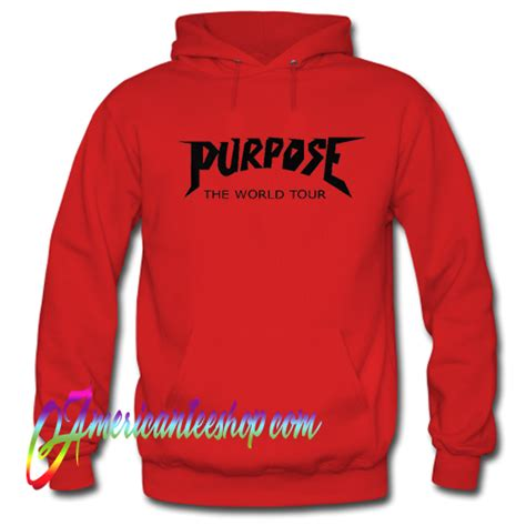 Hoodie Purpose The World Tour Brothersapparel purpose the world tour hoodie