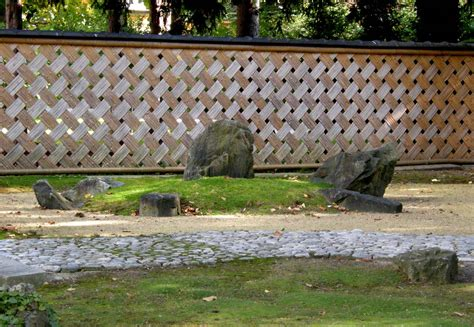Trellis Fences File Japanese Garden Sch 246 Nbrunn Karesansui Part