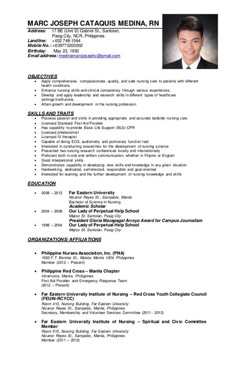 sle resume for nurses applicants in the philippines my resume