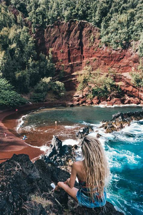 beaches maui offers red sand beach