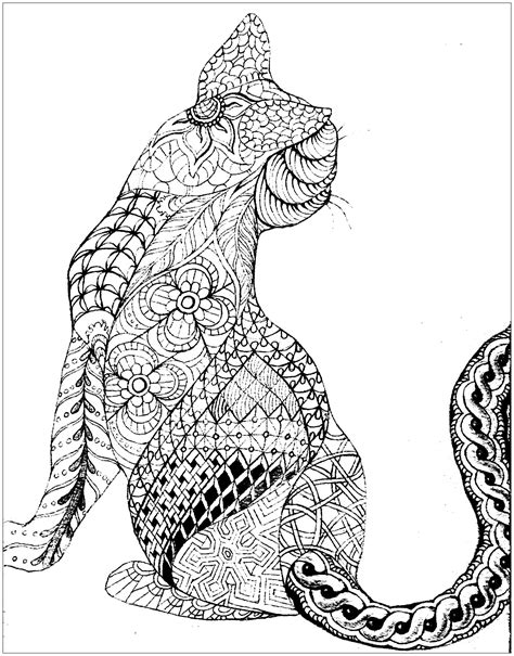 cat   cats adult coloring pages