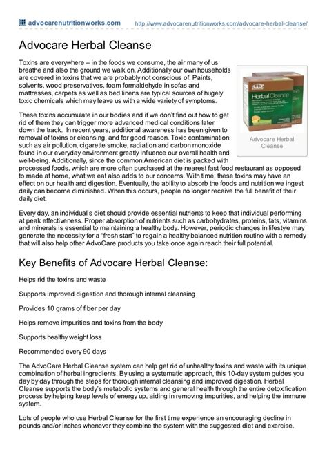 10 Day Detox Tools by Advocare 10 Day Herbal Cleanse
