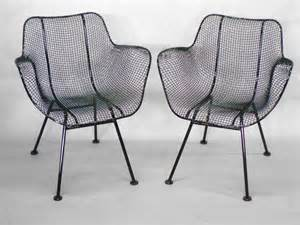 Mesh Dining Chair Six Wrought Iron With Mesh Dining Chairs By Woodard For Sale At 1stdibs