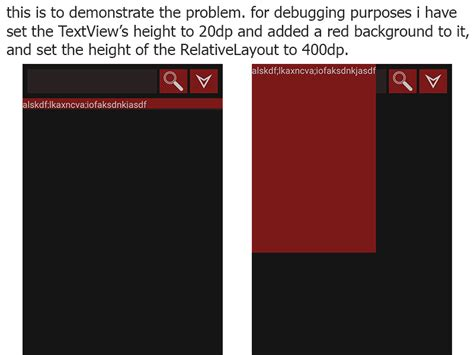 android layout width vs width android setting height to wrap content in java makes the