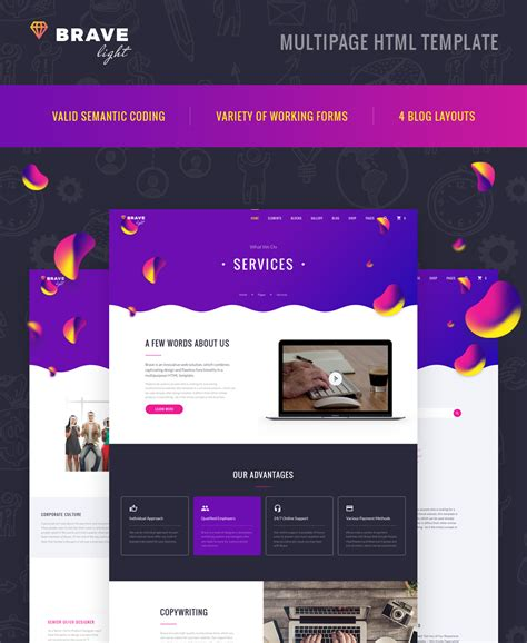 Universal Multipurpose Html Template Universal Website Template