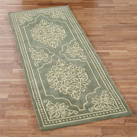 touch of class rugs florentia lace rug runner jade 3 x 8 touch of class