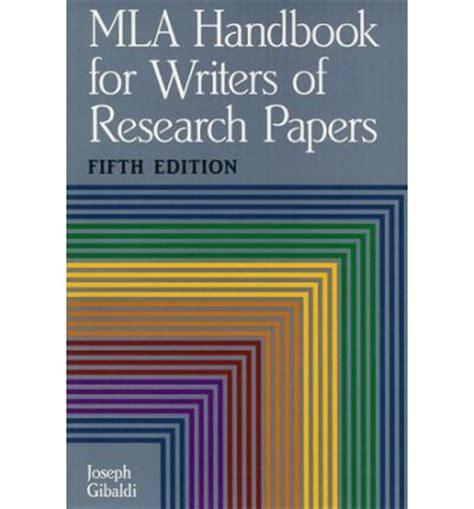 mla handbook for writers of research paper mla handbook for writers of research papers joseph