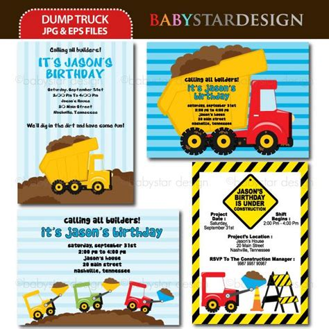 truck invitation template 1000 images about construction graphics and ideas