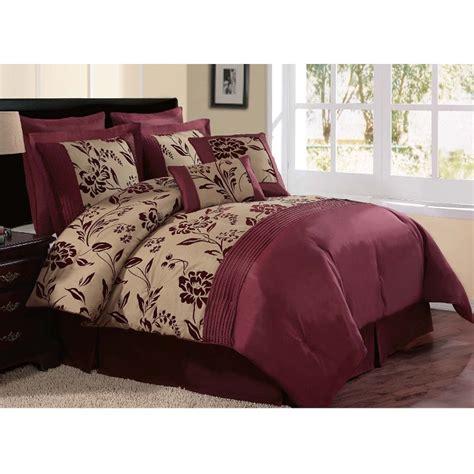 burgundy bedding sets royal calico burgundy 7pc