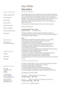 data analyst cv sle experience of data analysis and