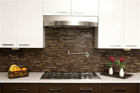 decorating with brown glass tile high end style for both