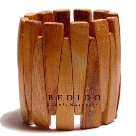 Handcrafted Wood Products - philippines bayong wood elastic bangle phjy038bl