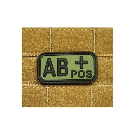 Rubber Pvc Patch Blood Type Ab Pos 1 jtg bloodtype ab pos rubber patch od softair