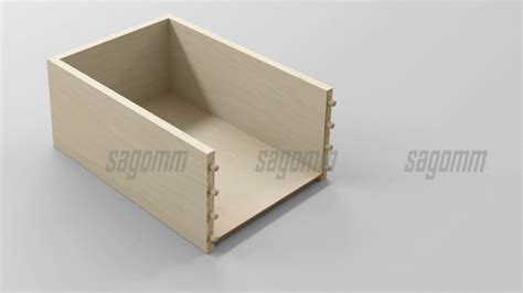 montaggio cassetti cassetti in truciolare rivestito in pvc