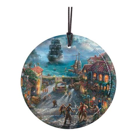 pirates of the caribbean thomas kinkade hanging glass