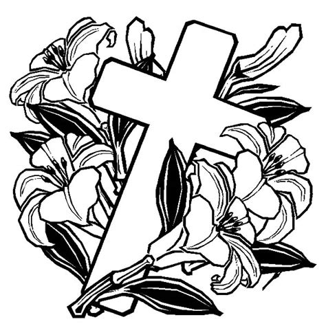 coloring pages of roses and crosses free coloring pages of cross with roses