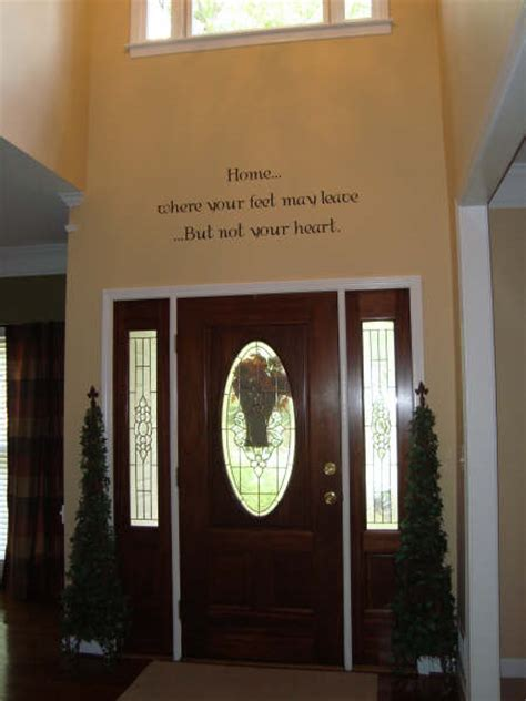 Front Door Wall Decor by Front Door Decoration Wall Lettering And Wall Sayings