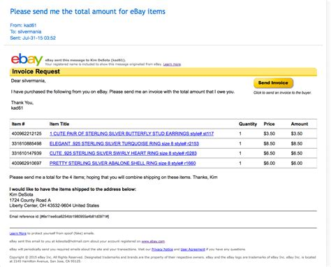 Seller Would Not Send Invoice For Multiple Items The Ebay Community Ebay Motors Templates