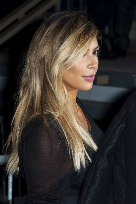 kim kardashian blonde balayage highlights photos all babes are wolves the balayage affect