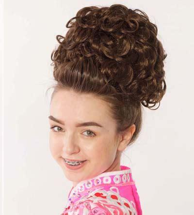 loose curl big bun for irish dancing keara double curl irish dancing bun wig antonio pacelli