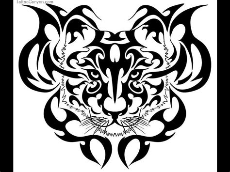 simple tiger tattoo designs black ink tribal and tiger design want