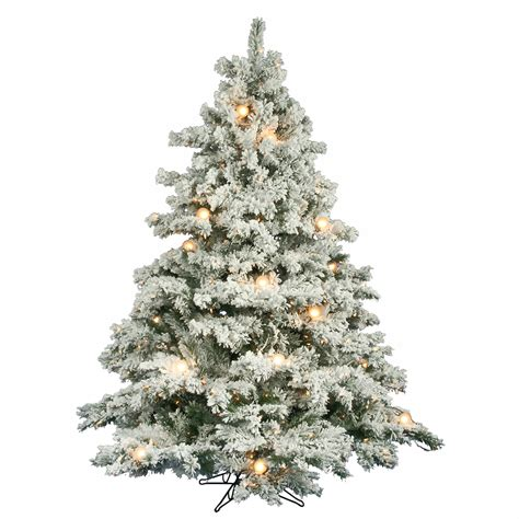 6 5 foot flocked alaskan christmas tree clear mini g50