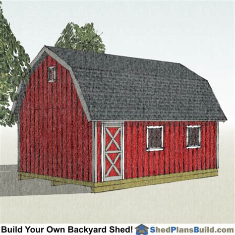 gambrel shed plans small barn shed
