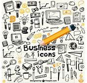 Business Icons In Doodle Style Vector  Free Download