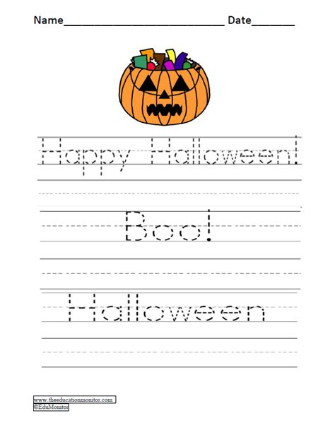 printable worksheets halloween free printable worksheets for first grade