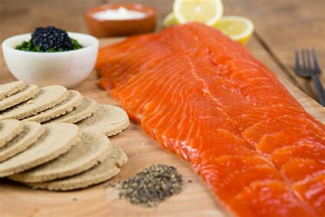 Tasty Dinner Party Recipes - how to serve a whole side of cold smoked trout rr spink