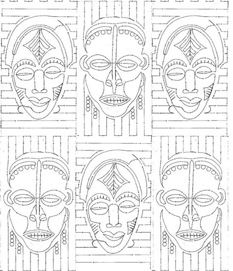 african tribal patterns coloring page african paper mask template pictures to pin on pinterest