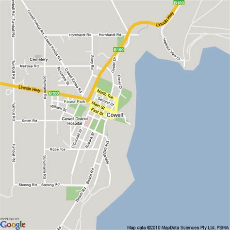 map  cowell south australia hotels accommodation
