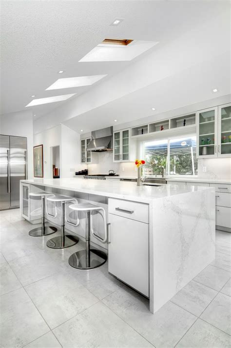 Kitchen And Bath Lighting Edmonton Tile Vs Wood Kitchen Contemporary With Gray Floor Cabinetry Vent