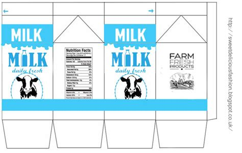 miniature milk carton template katehard pinterest