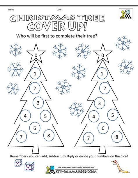 christmas tree math worksheets christmas