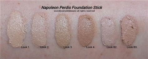china doll foundation look 3 napoleon perdis foundation stick review swatches of shades