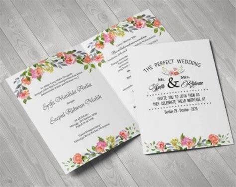 30 undangan pernikahan unik desain simple dan elegan