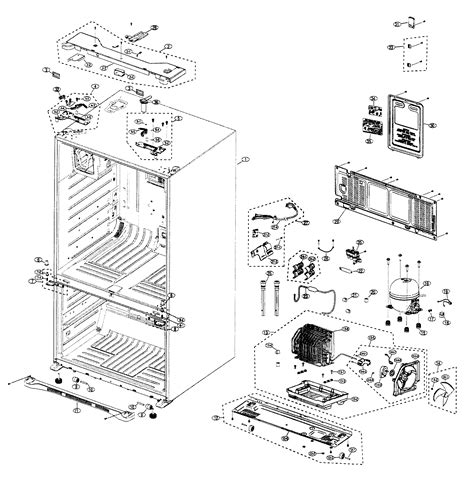 samsung refrigerator parts diagram diagram parts list for model rfg237aarsxaa