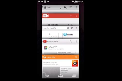 recent apps android paranoid android alpha builds get the cardstackview recent apps screen like android l the