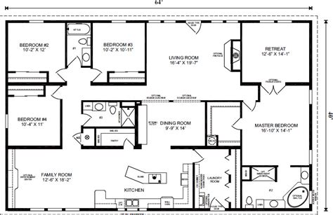 mobile home floor plans florida manufactured home floor plans florida